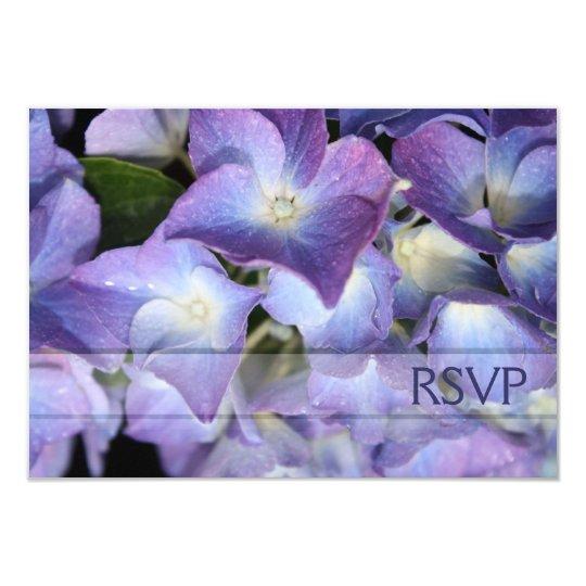 Bluish Purple Hydrangea RSVP Response Card