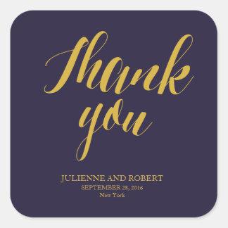 "Bluish   Rustic Chic Wedding ""Thank you"" Stickers"