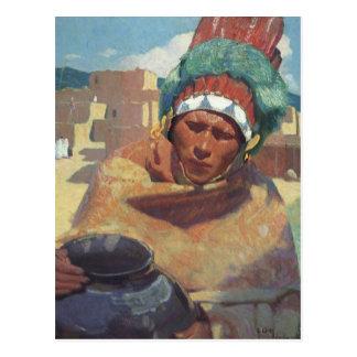 Blumenschein, Taos Native American Indian Portrait Postcard