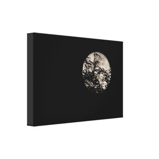 Blur background Moon Canvas Print