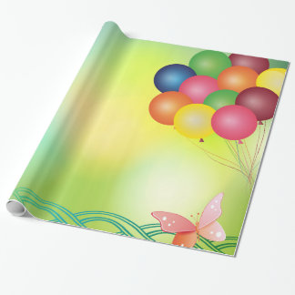 Blur balloons wrapping paper