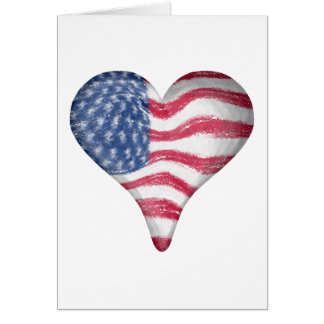 Blur Painting USA Flag Greeting Cards