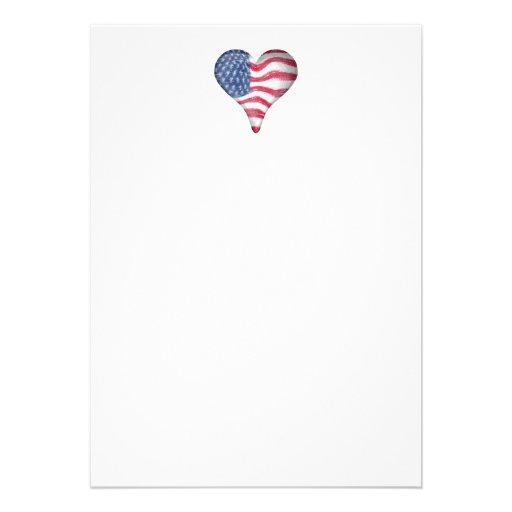 Blur Painting USA Flag Invites