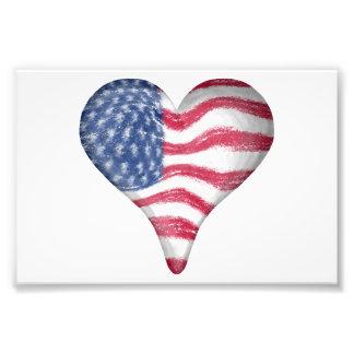Blur Painting USA Flag Photo Print
