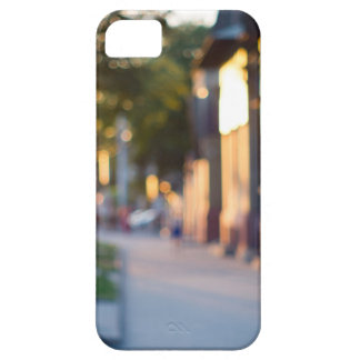 Blurred and out of focus image of streets iPhone 5 covers