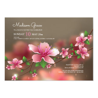 Blurred Blossoms Invitation