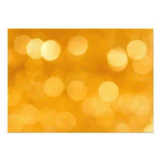 BLURRED BOTEK GOLDEN YELLOW CIRCLES PATTERN DIGITA PERSONALIZED ANNOUNCEMENT