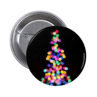 Blurred Christmas Lights 6 Cm Round Badge