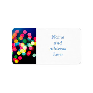 Blurred Christmas lights Address Label