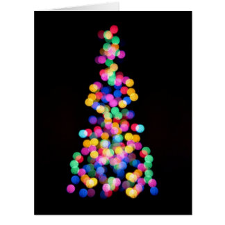 Blurred Christmas Lights Cards