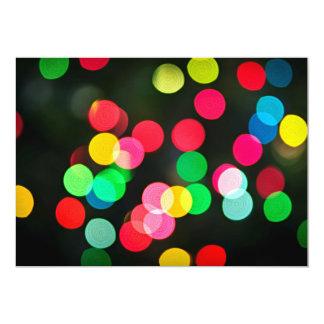 Blurred Christmas lights (horizontal) 5x7 Paper Invitation Card
