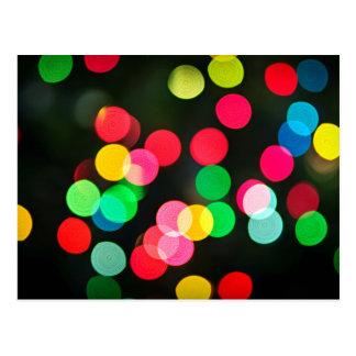 Blurred Christmas lights (horizontal) Postcard
