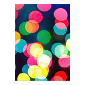 "Blurred Christmas lights 5"" X 7"" Invitation Card"