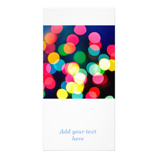 Blurred Christmas lights Personalized Photo Card