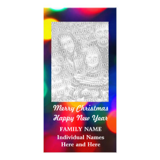 Blurred Christmas Lights Photo Cards