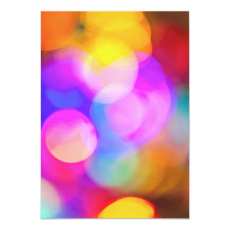 Blurred Christmas  or party lights 13 Cm X 18 Cm Invitation Card