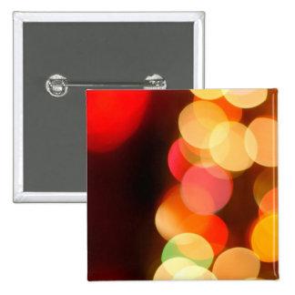 Blurred Christmas tree 15 Cm Square Badge