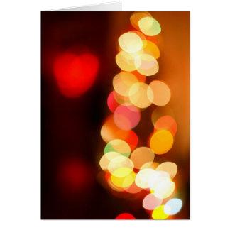 Blurred Christmas tree Greeting Card