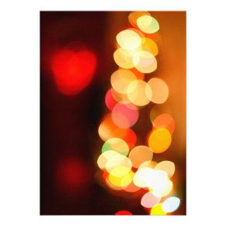 Blurred Christmas tree Invitations