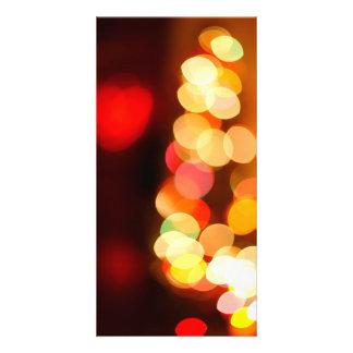 Blurred Christmas tree Photo Greeting Card