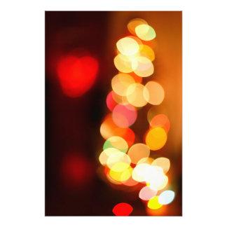 Blurred Christmas tree Photograph
