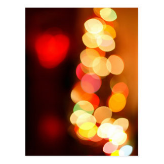 Blurred Christmas tree Postcard