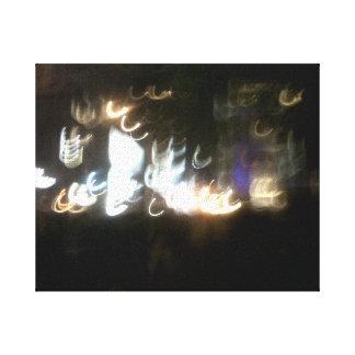 Blurred City Lights Canvas Prints