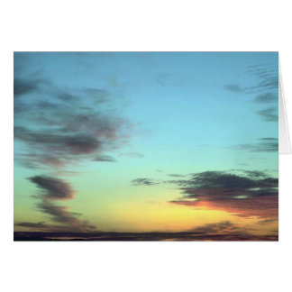 Blurred Clouds In The Sky Greeting Card