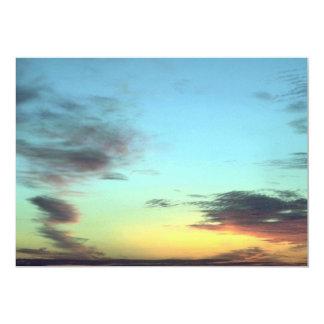"""Blurred Clouds In The Sky 5"""" X 7"""" Invitation Card"""