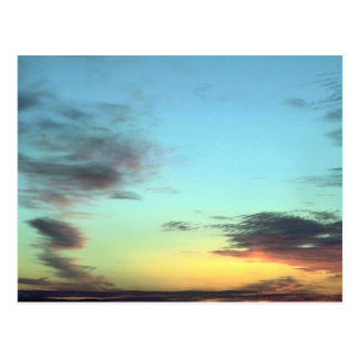 Blurred Clouds In The Sky Postcard