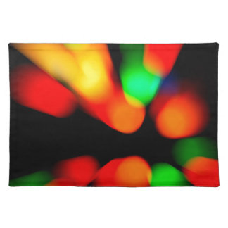 Blurred color background placemat