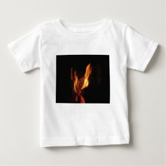 Blurred flames in a burning fireplace on black baby T-Shirt