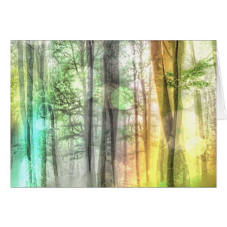 Blurred Forest Greeting Cards