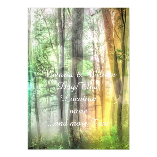 Blurred forest personalized announcement