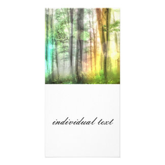 Blurred forest photo cards