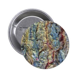 Blurred fruit tree bark texture background 6 cm round badge
