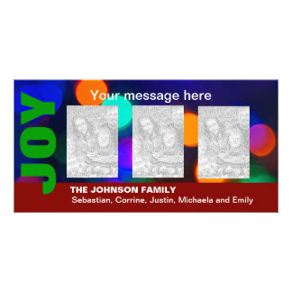 Blurred Holiday Lights Personalized Photo Card