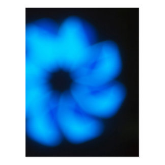 Blurred image of an abstract blue shapes closeup postcard