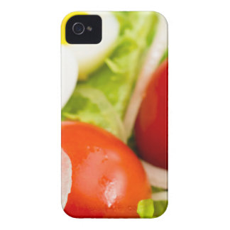 Blurred image of cherry tomatoes in a salad iPhone 4 Case-Mate cases