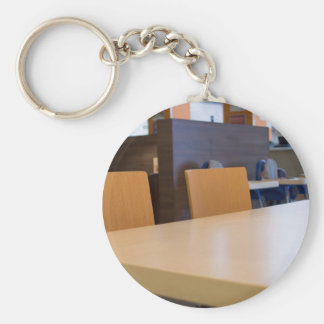 Blurred image of the interior cafe key ring