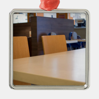 Blurred image of the interior cafe metal ornament