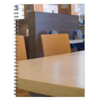 Blurred image of the interior cafe notebooks