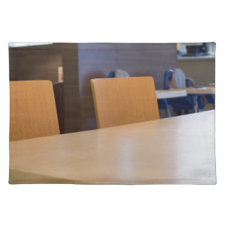 Blurred image of the interior cafe placemat