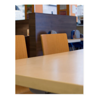 Blurred image of the interior cafe postcard