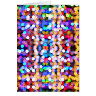 Blurred Lights Abstracts Colorful Patterns Greeting Card