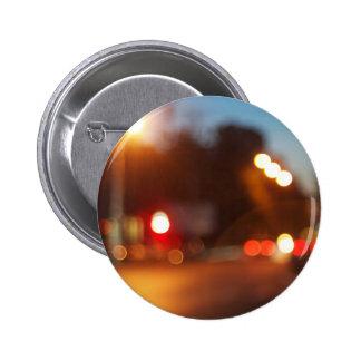 Blurred lights of cars 6 cm round badge