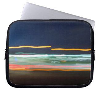 Blurred Lines - Motion Blur Photography Laptop Sleeve