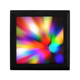 Blurred multi color lights gift box