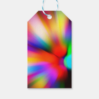 Blurred multi color lights gift tags