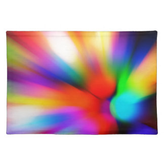 Blurred multi color lights placemat